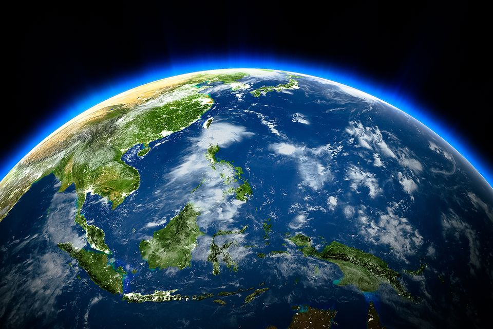Planet Erde im Sonnensystem
