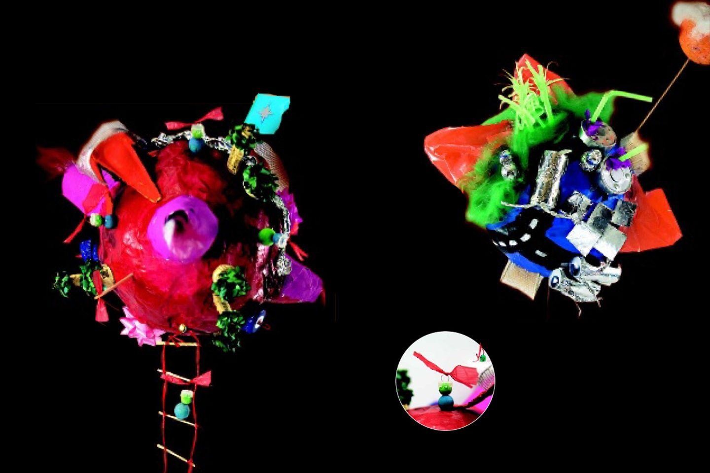 Planeten aus Pappmache