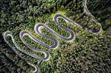 Straße in Transsilvanien