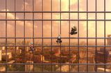 Sonnenuntergang am Mercury Tower, Russland
