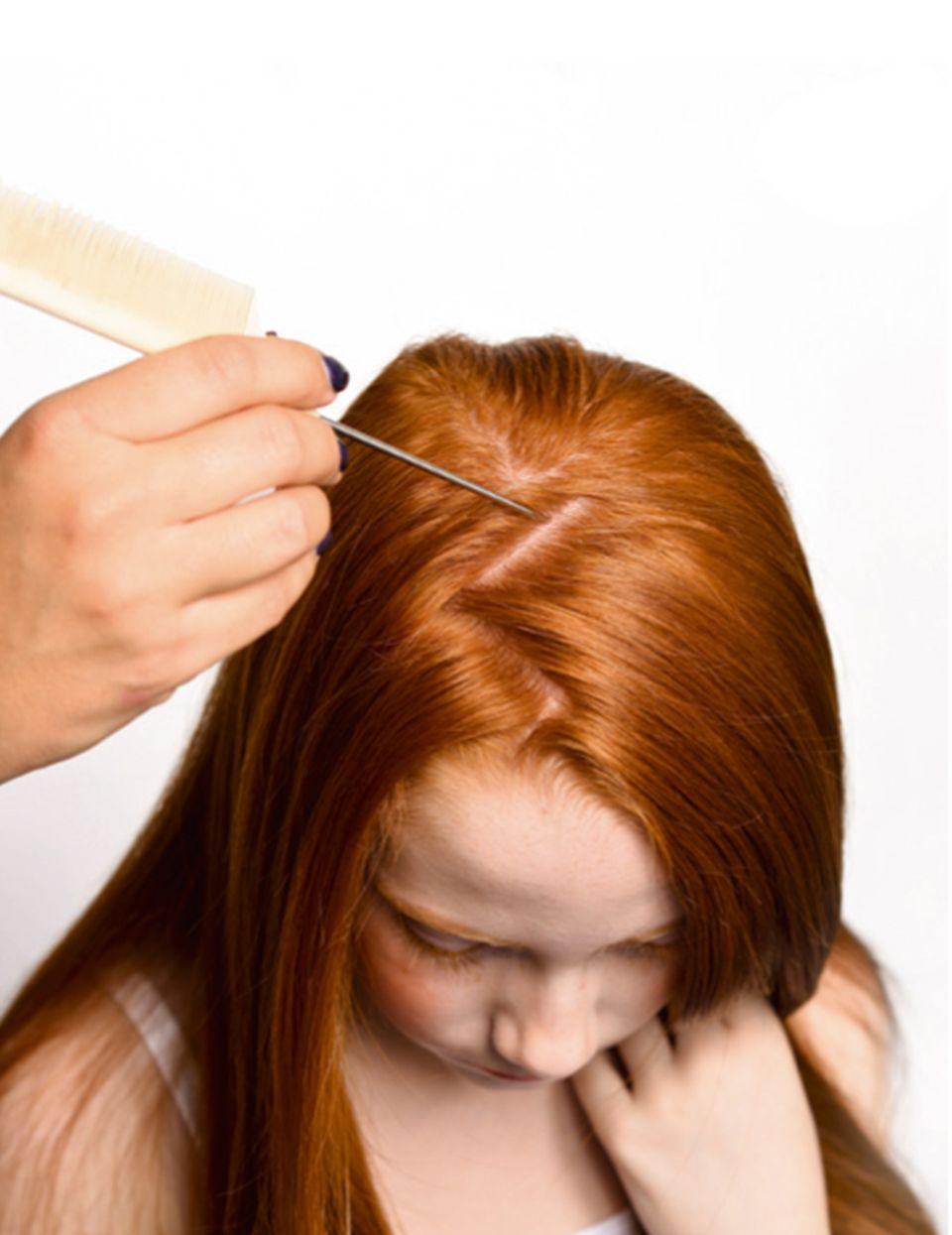 Haare glätten für die Kinderfrisur