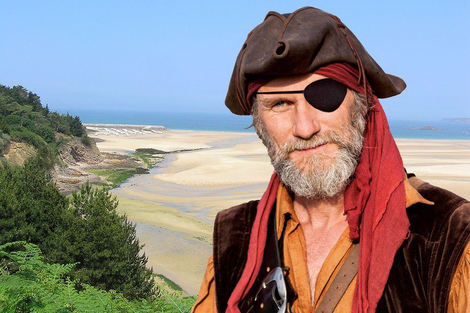 Pirat am Strand