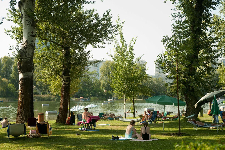 Österreich, Wien, Strandbad Gänsehäufel an der Alten Donau