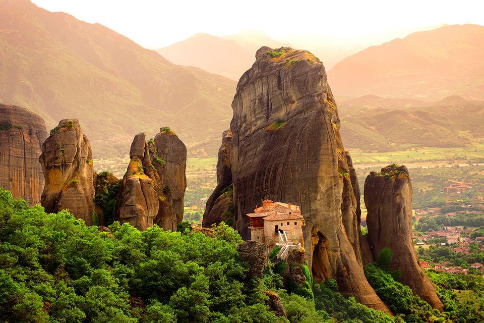 Kloster auf den Meteora-Bergen in Griechenland