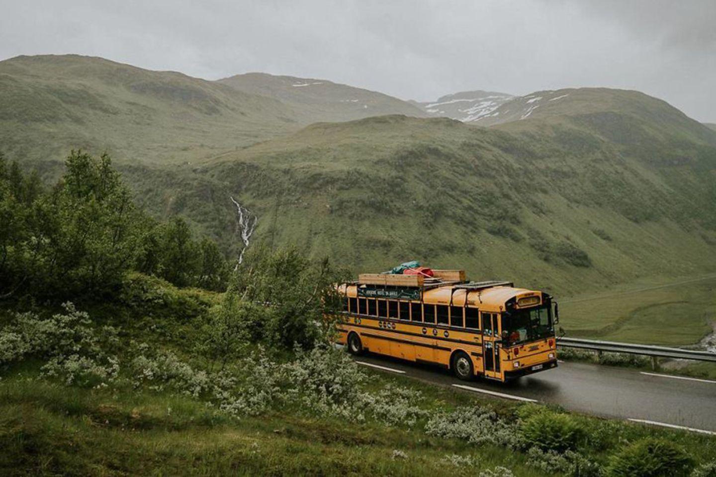 rollendes Hostel in Norwegen