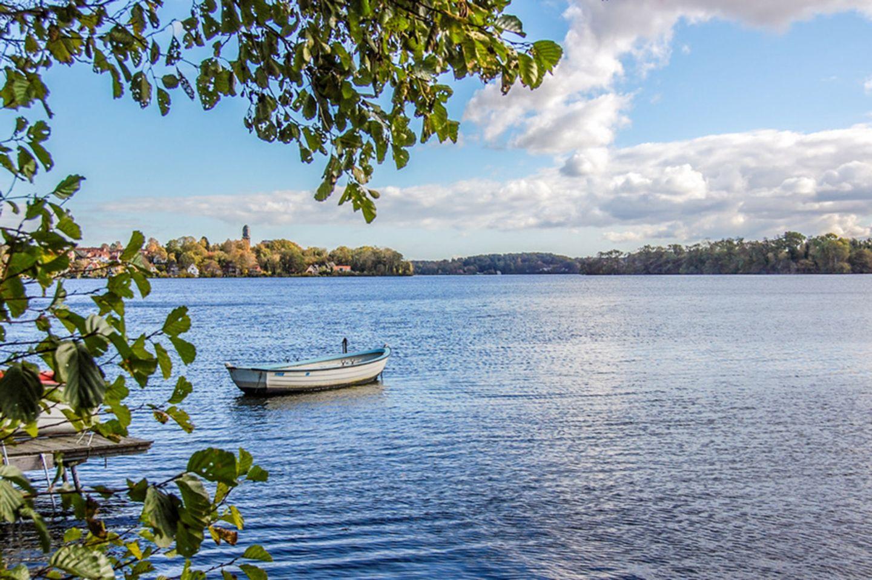 Blick über Plöner See und Plön