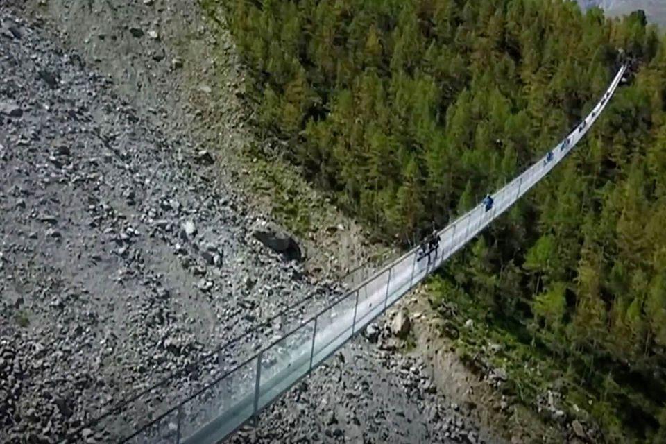 Hängebrücke bei Zermatt