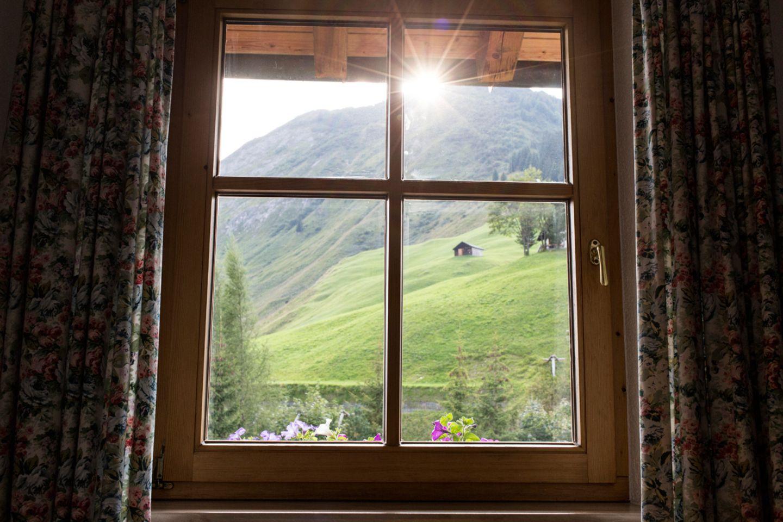 Blick aus dem Haus Hubertus in Warth