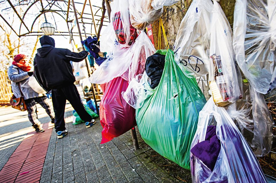 Gabenzaun für Obdachlose