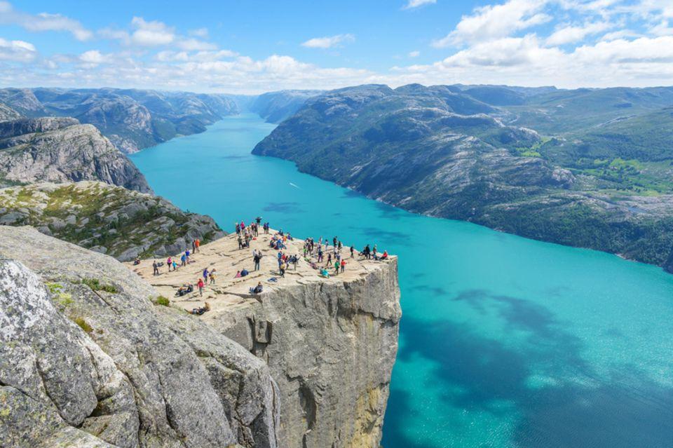 Pulpit Rock, Prekestolen, Norwegen
