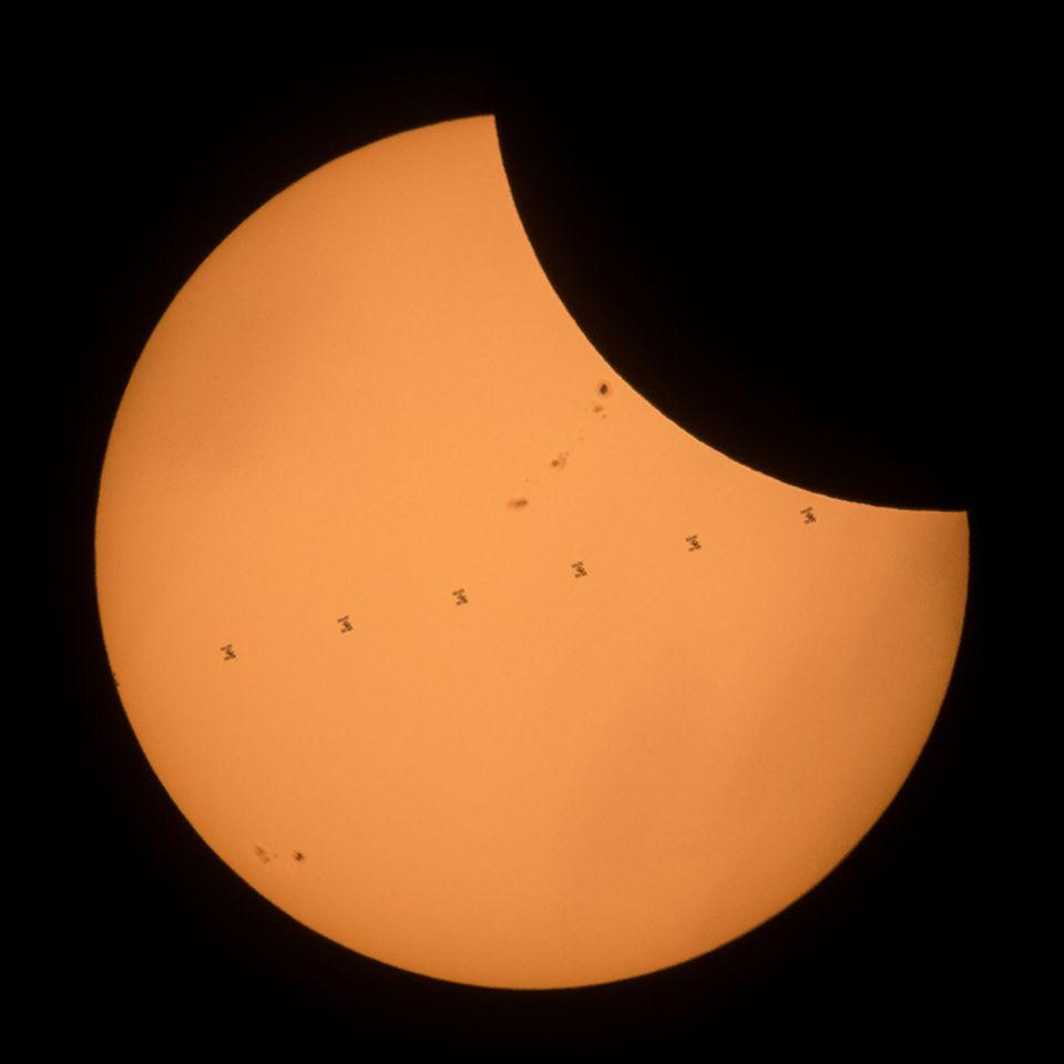Sonnenfinsternis und ISS