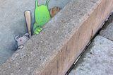 BBaseball Street Art David Zinn