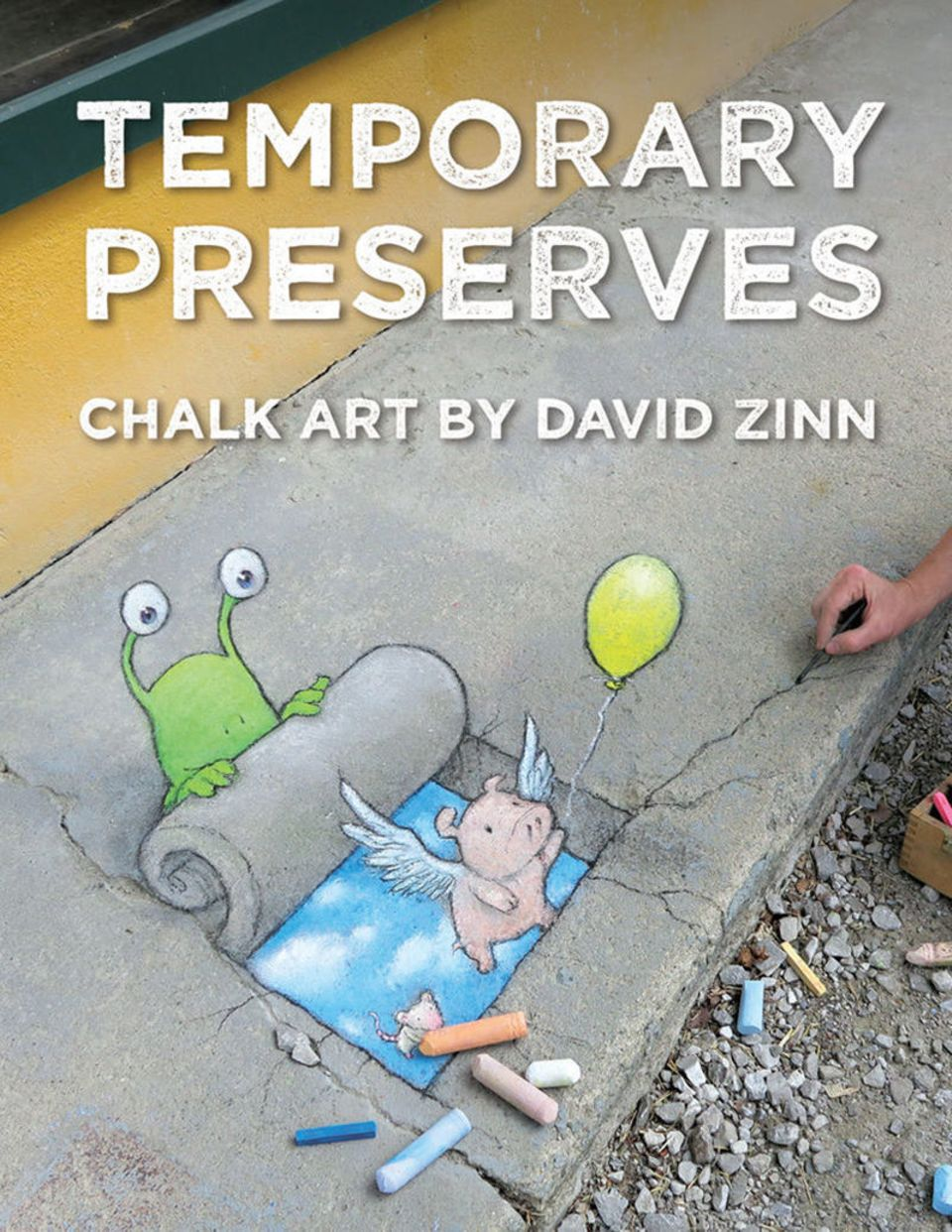 Temporaray Preservers Chalk Art by David Zinn