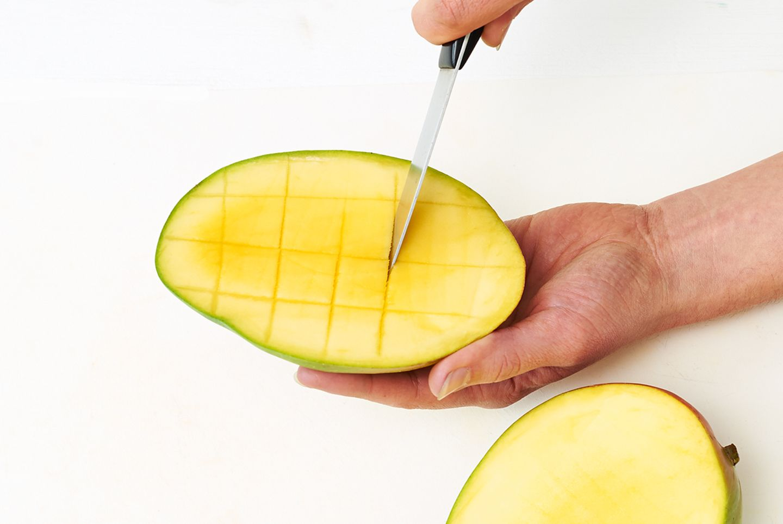 Mango einritzen