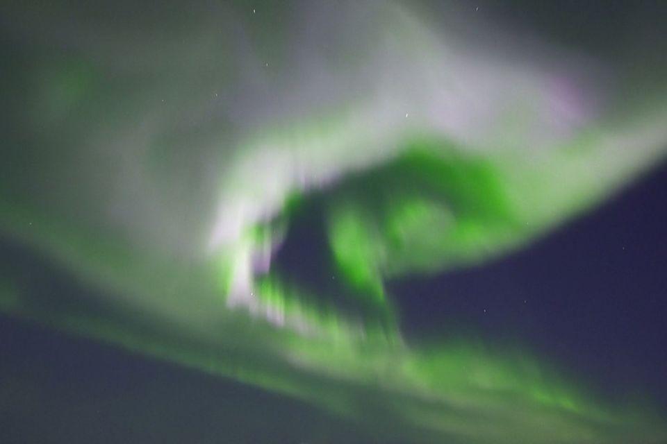 Nordlichter über Tromsö in Norwegen