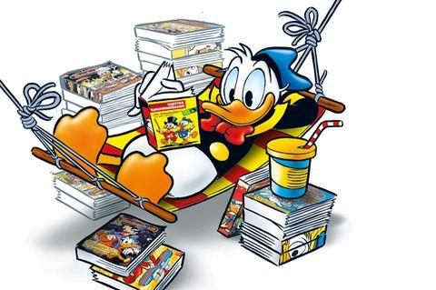 Donald Duck in Hängematte