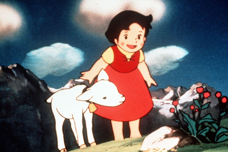 Heidi mit Ziege