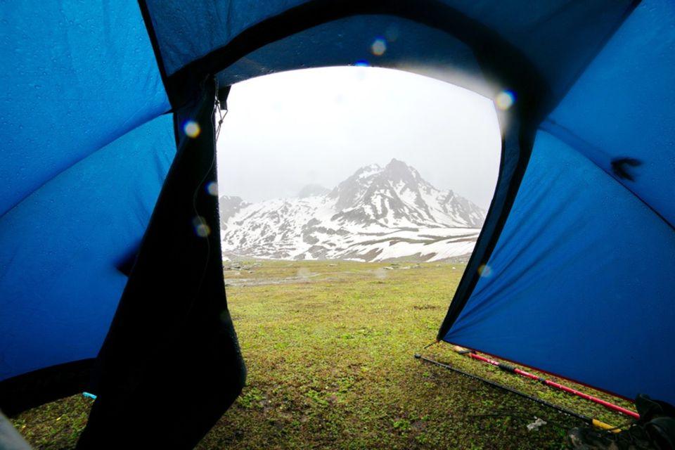 Zelt im Regen
