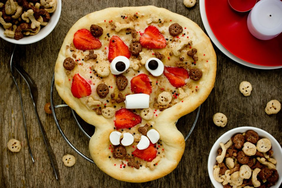 Totenkopf-Pizza
