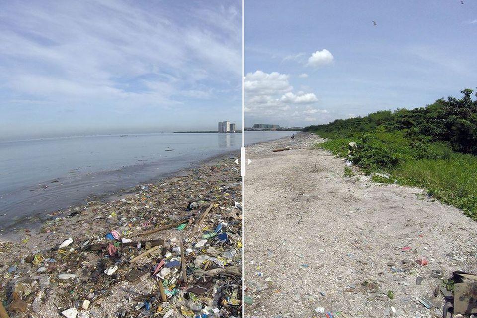 Strand von Manila: Vorher/Nachher