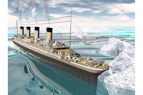 Die Titanic im Eis
