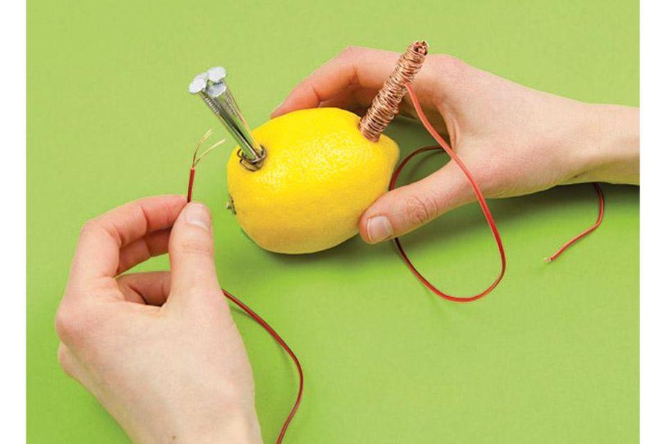 Strom aus der Zitrone