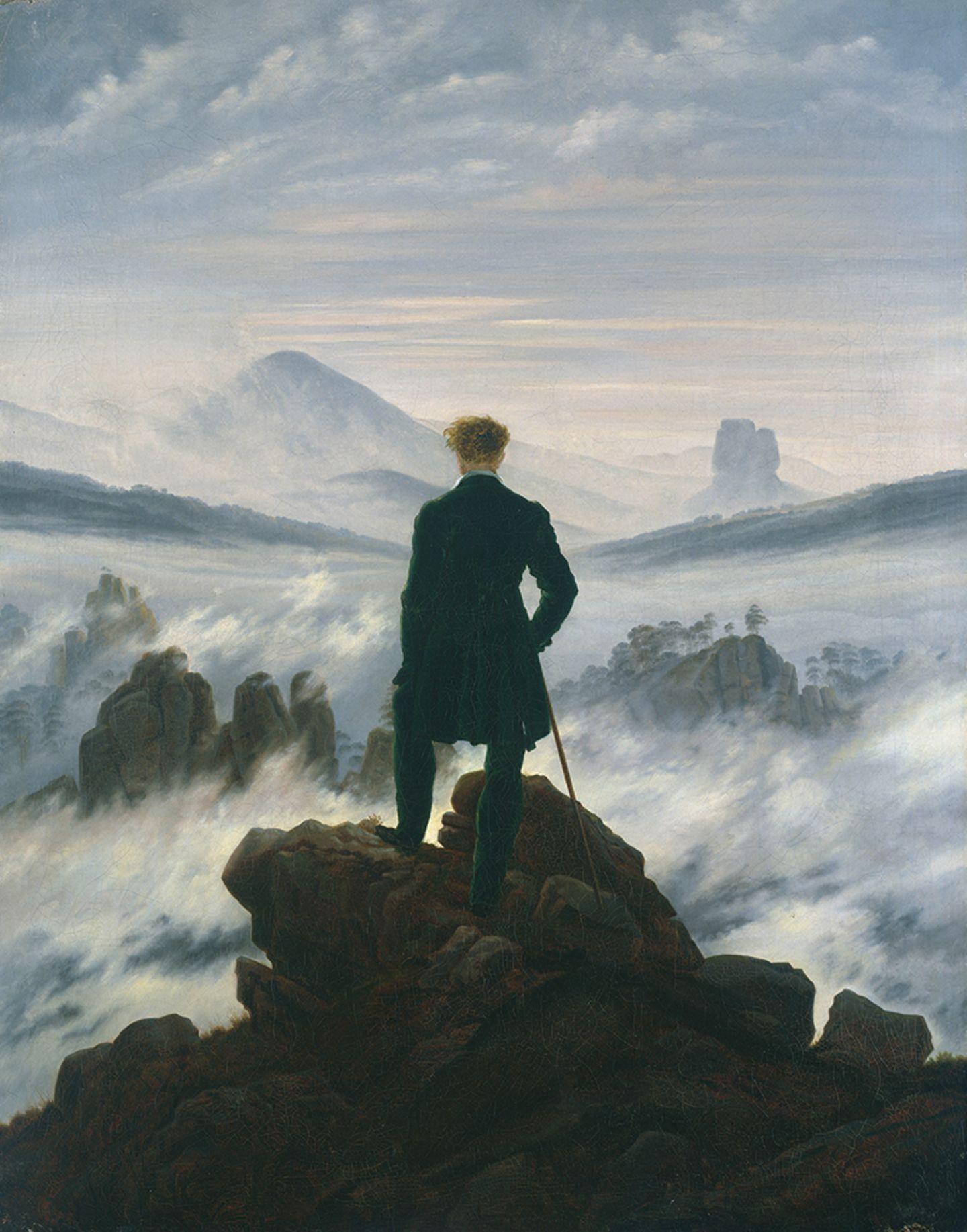 Caspar David Friedrich, Wanderer über dem Nebelmeer