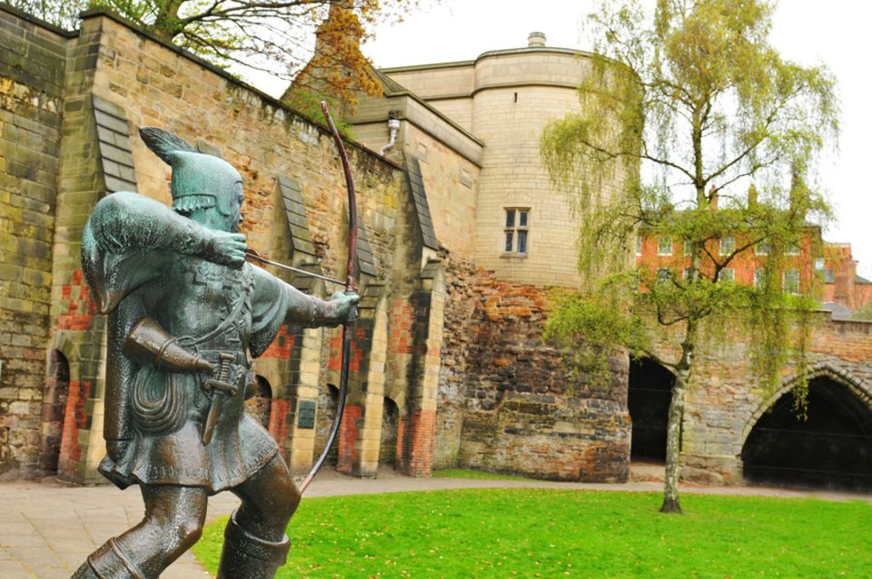 Robin Hood bei Nottingham Castle