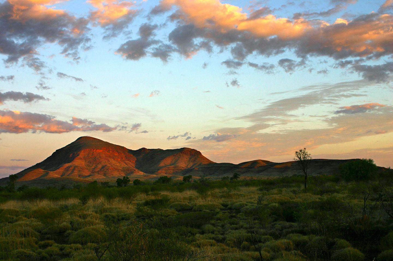 Mount Bruce bei Sonnenuntergang, Karijini Nationalpark