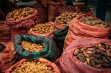 Kartoffeln auf einem Markt in Peru