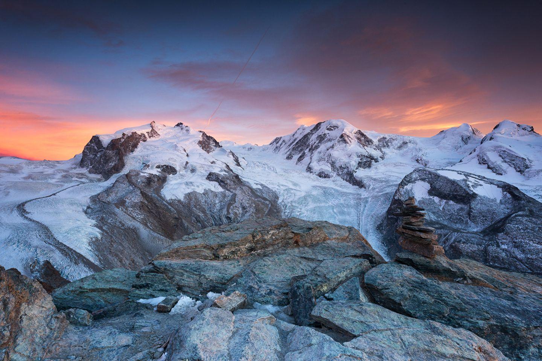Monte Rosa Massiv in der Schweiz