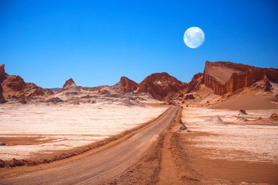 Valle de luna in der Atacama-Wüste, Chile