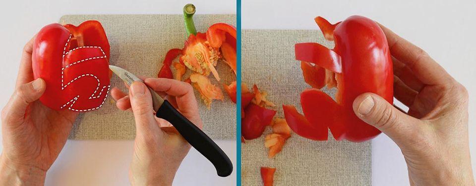 Frösche aus Paprika