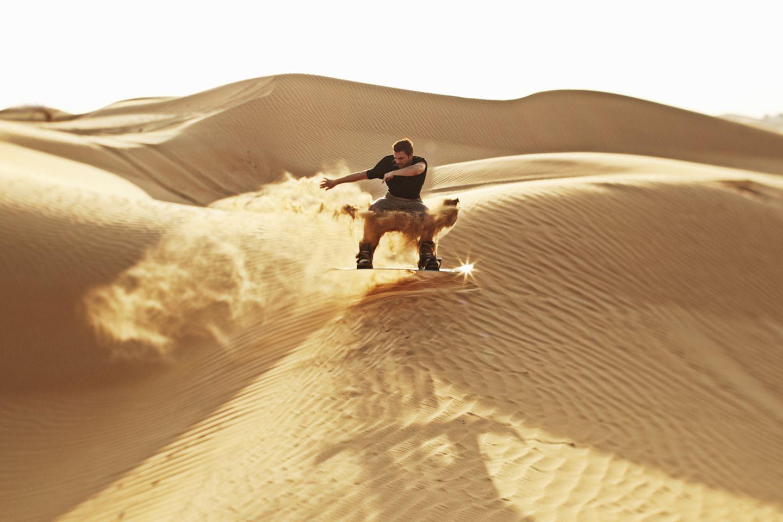 Sanboarding, Wüste
