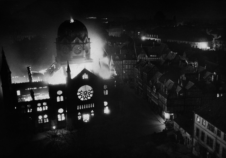 Brennende Synagoge