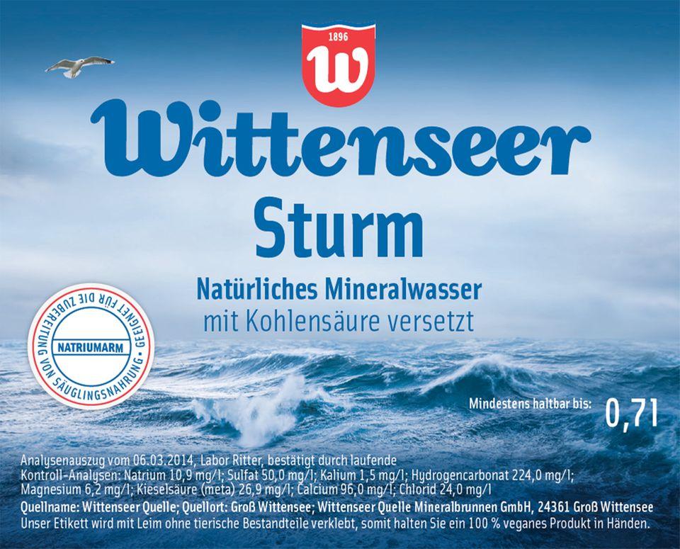 Etikett der Wittenseer Quelle