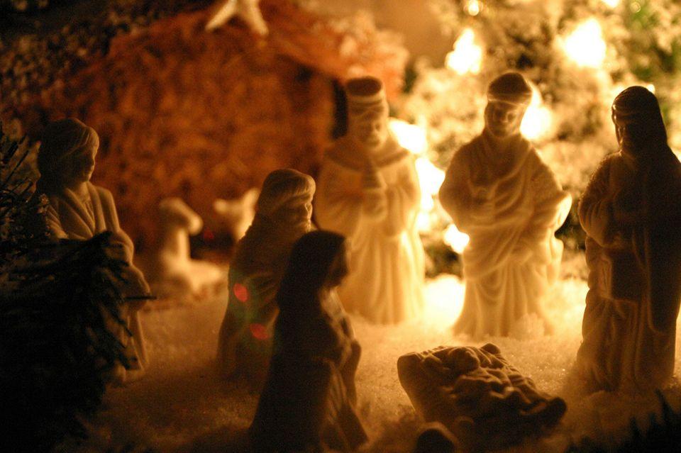 Krippe an Weihnachten