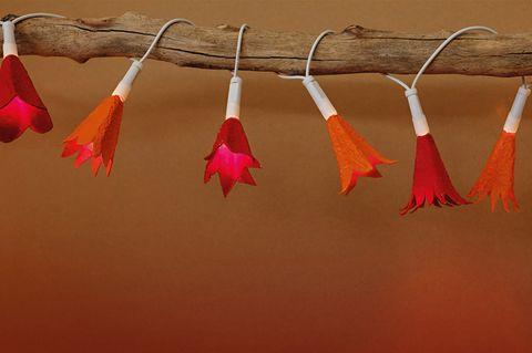Blumen-Lichterkette