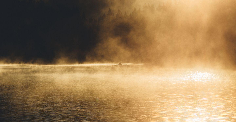 Paddler auf dem Geroldsee
