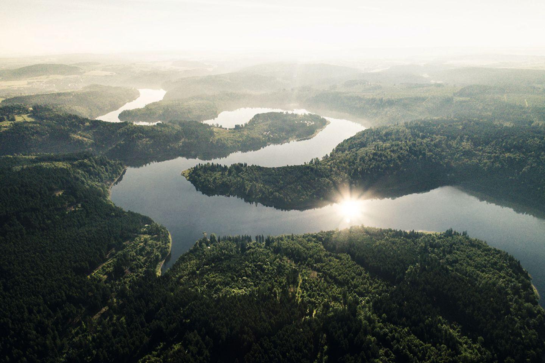 Bleilochtalsperre im Thüringer Wald