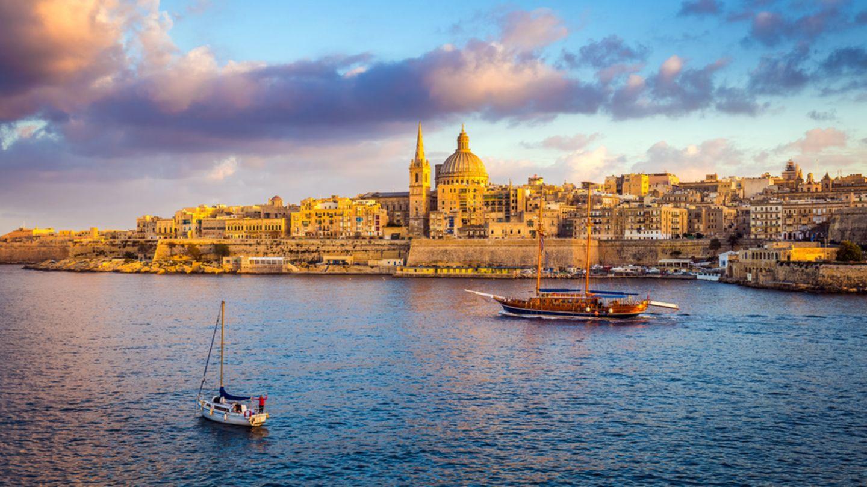 Stadtansicht von Valletta auf Malta