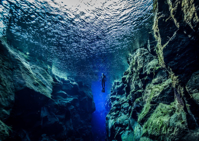 Silfra-Spalte, Island