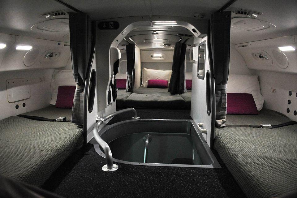 Schlafkabinen für das Personal im Flugzeug