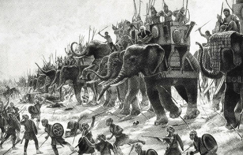 Die Kriegselefanten von Hannibal