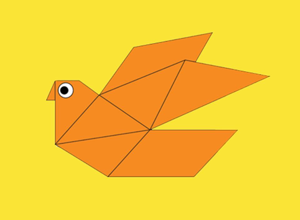 Origami Vogel - die Taube