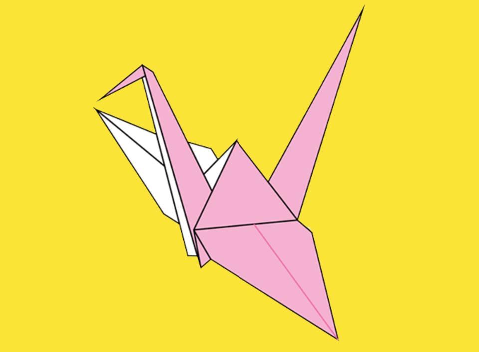 Origami Vogel: Der Kranich