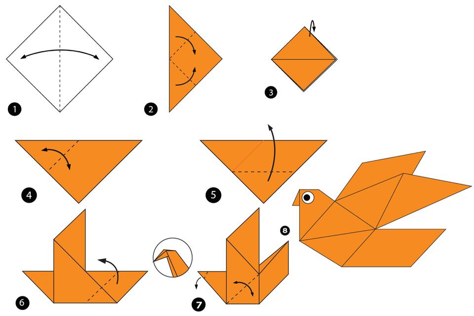 Anleitung Origami Vogel