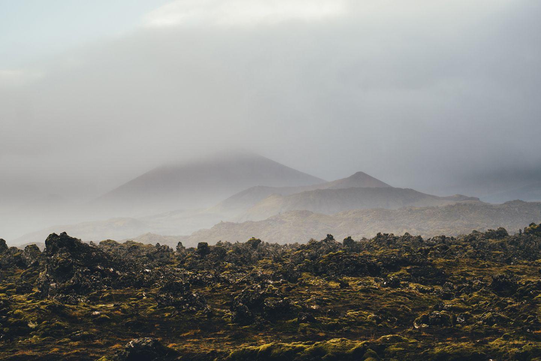 Lavafelder auf Island