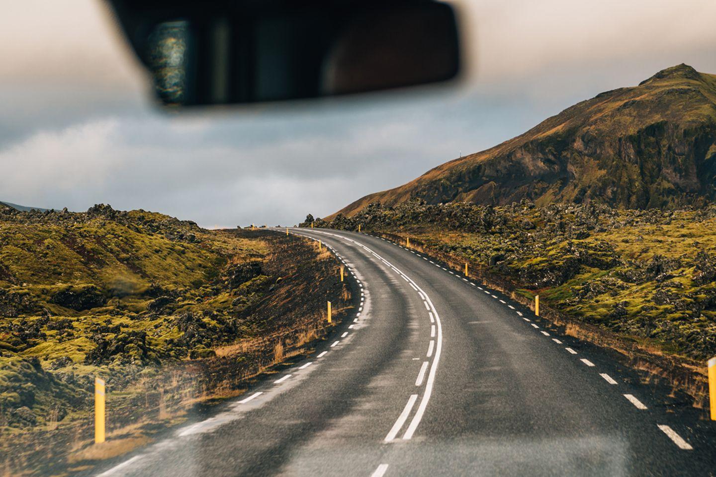 Autofahrt auf Island