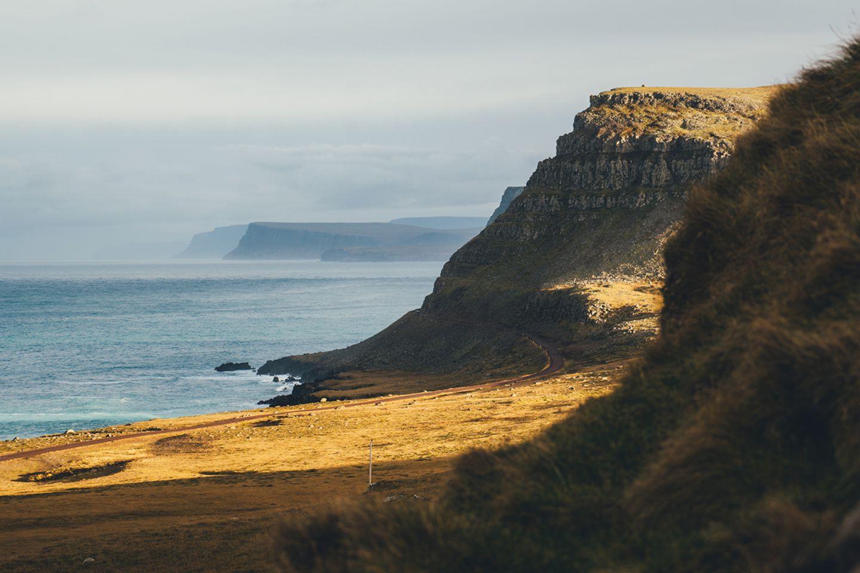 Erleuchtete Landschaft auf Island